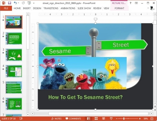 seasame street powerpoint template