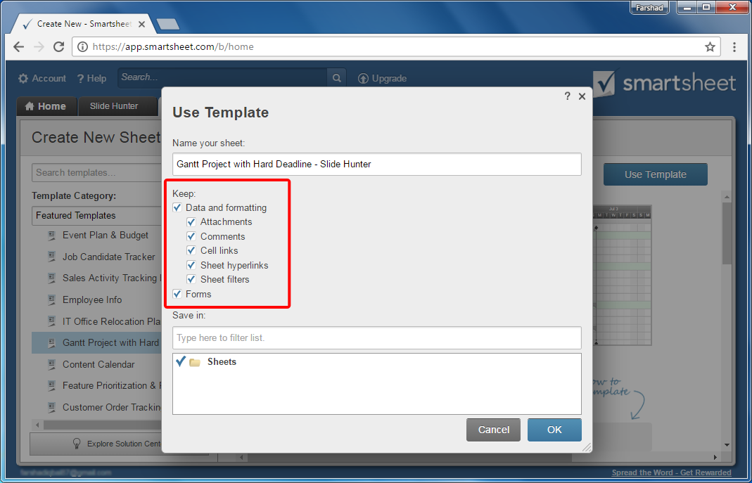 select-smartsheet-features