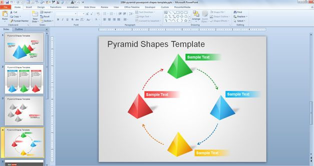 Pyramid PowerPoint Shapes Template