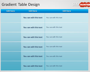 Free tables powerpoint templates free ppt powerpoint for Table design ppt