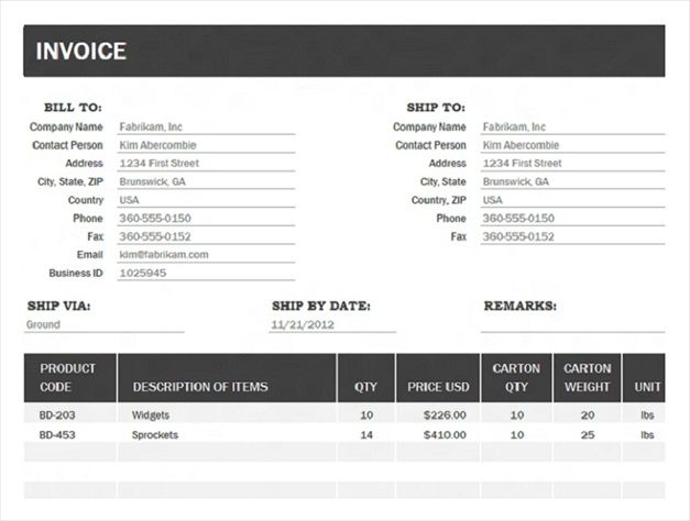 invoice template microsoft office 2010
