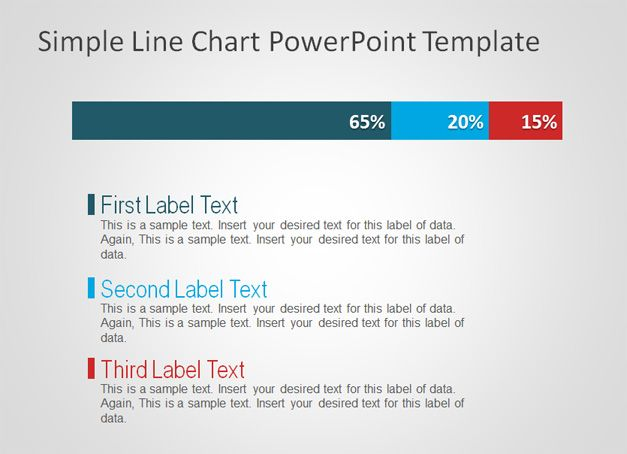 Exmaple of Simple PowerPoint slide design with awesome Line Chart visualization