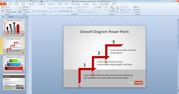 Stair Step Line for PowerPoint