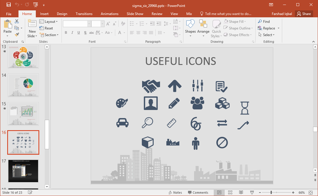 six sigma icons