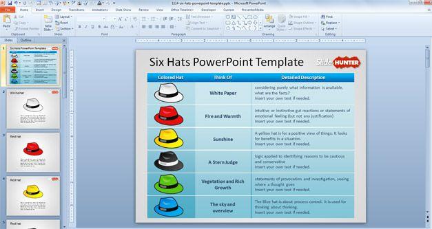 six hats powerpoint