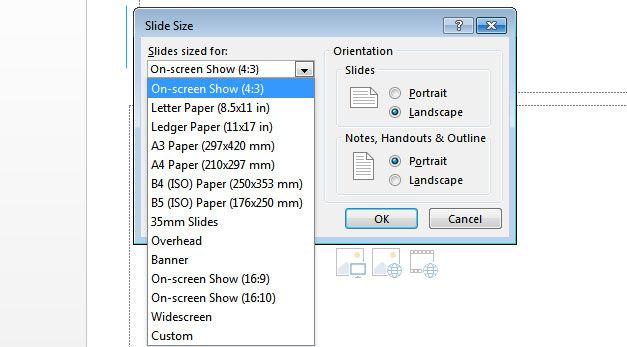 slide size microsoft powerpoint