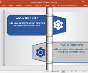 Sliding Panels Animated PowerPoint Template