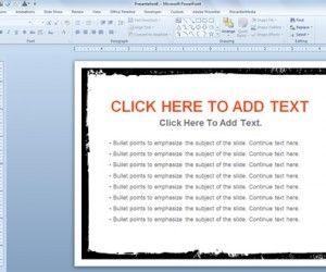 Free Edgy Smudge Template for PowerPoint Presentations