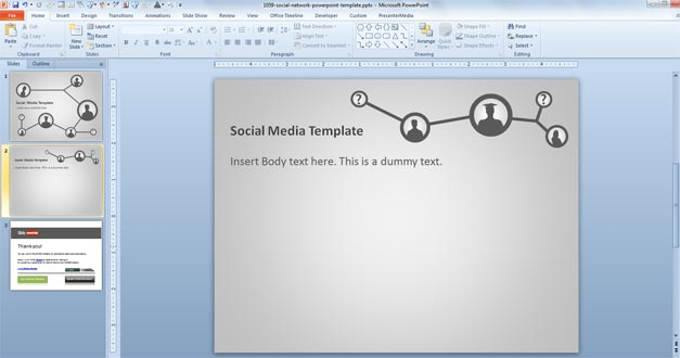 Free social network powerpoint template free powerpoint for Social network profile template