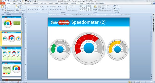 free editable speedometer template