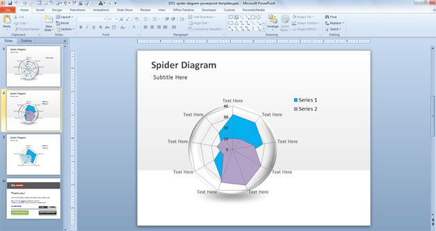 free spider diagram powerpoint template