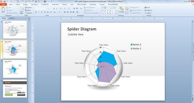 spider diagram powerpoint
