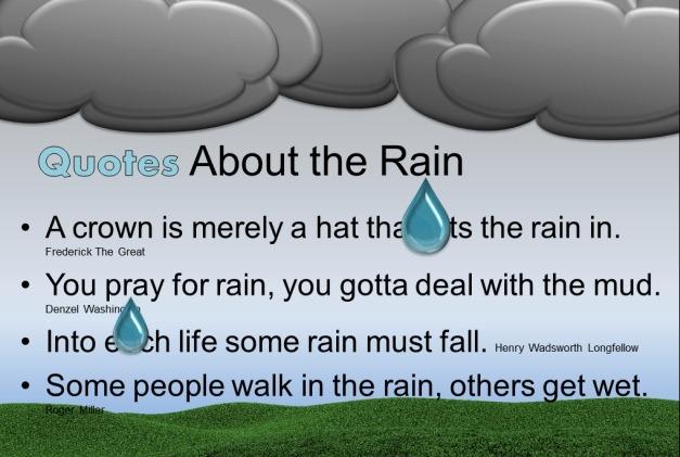 spring rain slide