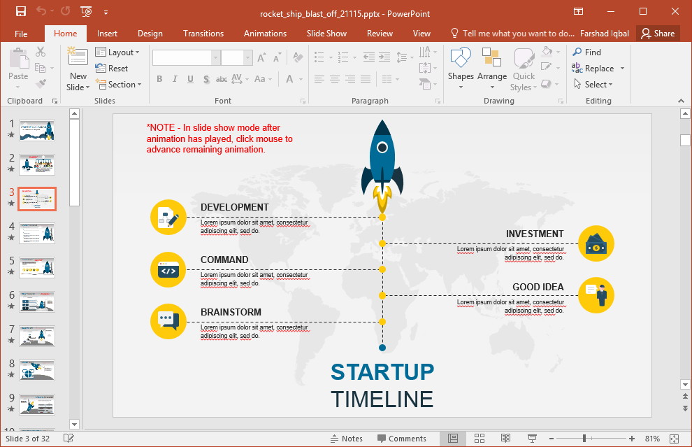 Startup presentation template