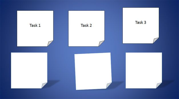 white post it powerpoint