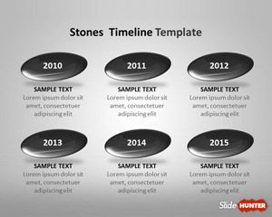 Stones Timeline Template for PowerPoint