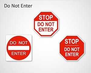 Do Not Enter Sign PowerPoint Template