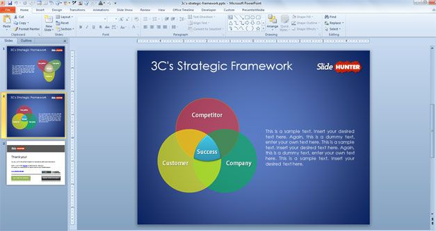 3C's Strategic Framework Template for PowerPoint