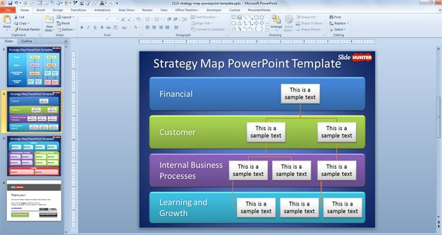 Strategy Map PowerPoint Template