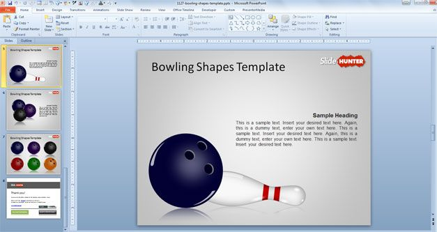 free strike powerpoint template bowling