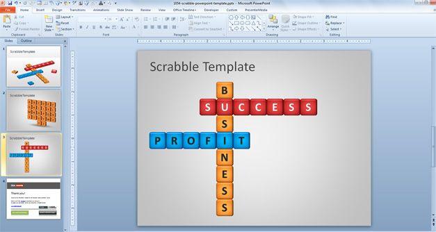 scrabble template