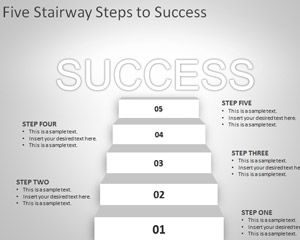 Five Stairway to Success PowerPoint Template