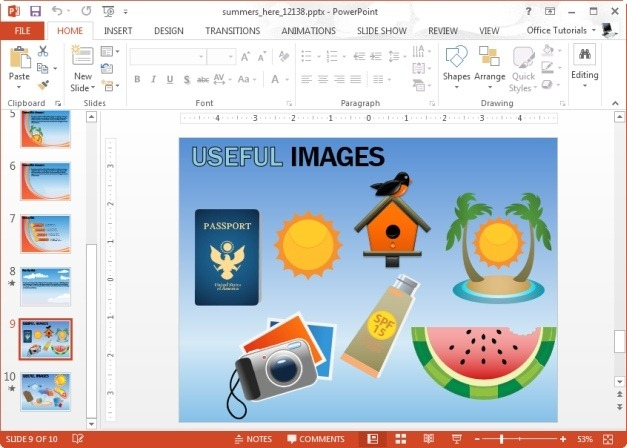 summer clipart for powerpoint