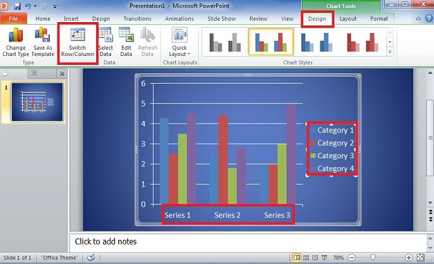 column powerpoint bar graph