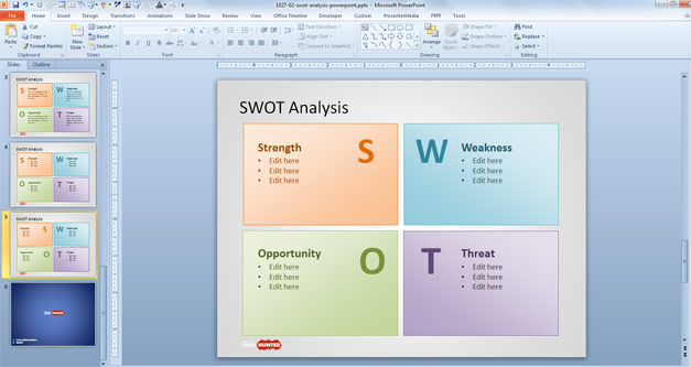 Free Swot Analysis Powerpoint Template Free Powerpoint Templates
