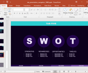 Animated Tabbed PowerPoint Template