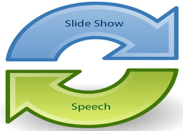 synchronize slide show with speech