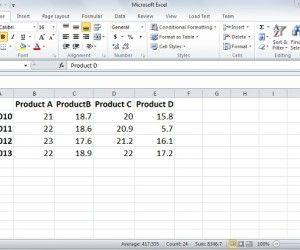 Create a Chart in Microsoft Excel 2010
