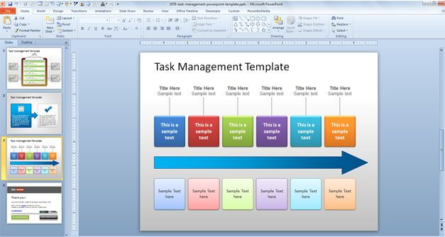 Task process powerpoint task management ppt template