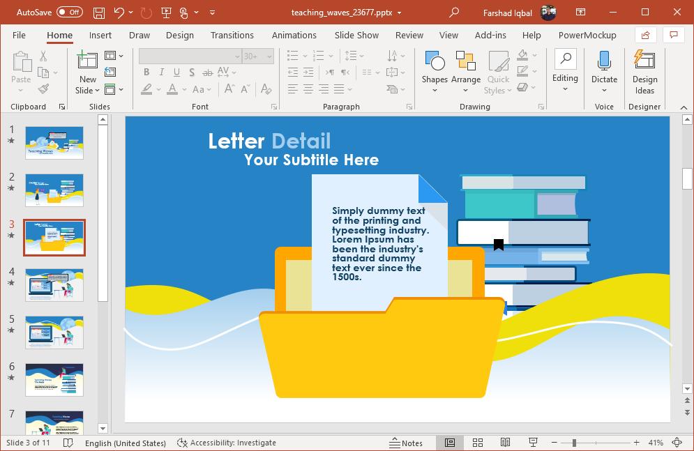 teaching powerpoint template design