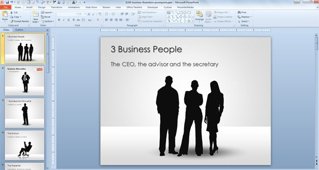 Free Businessman Silhouettes for PowerPoint Presentations