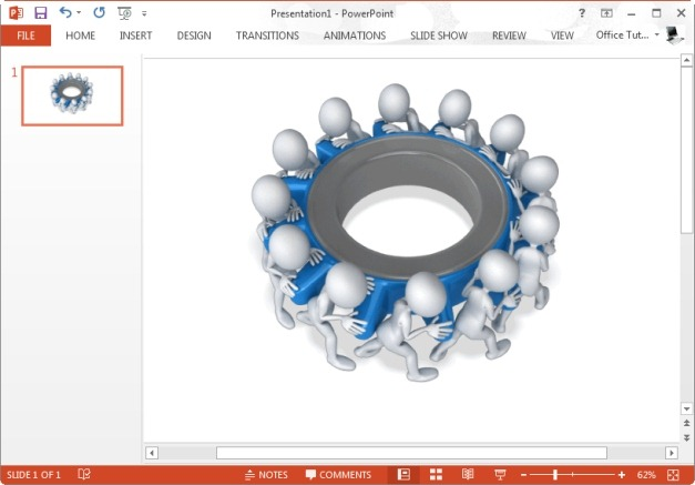 team turning gears animated clipart