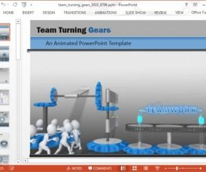 Teamwork PowerPoint Template With Workforce Animation