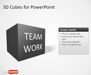 3D Cube Shape for PowerPoint with Perspective