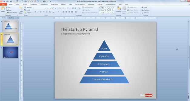 how to make a pyramid graph in excel