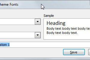 Create New Theme Fonts in PowerPoint 2010