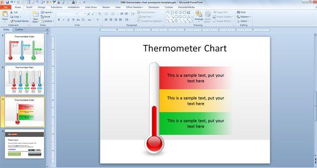 plantilla powerpoint termometro
