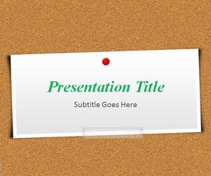Corkboard PowerPoint Template