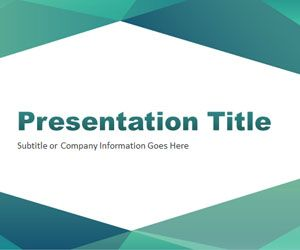 Abstract Angled PowerPoint Template 01
