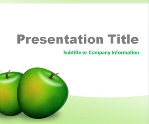 Green Apples PowerPoint Template