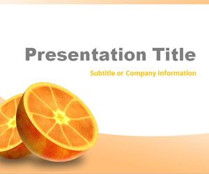 Oranges PowerPoint Template