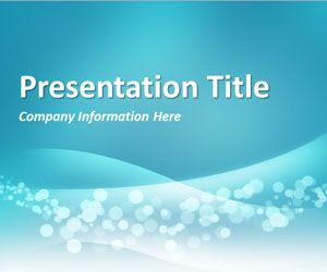 Wavy Blue PowerPoint Template