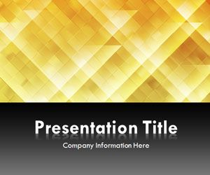 Light Triangles Gold PowerPoint Template