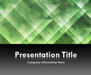 Light Triangles Green PowerPoint Template