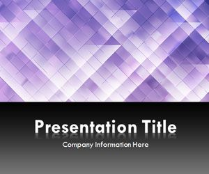 Light Triangles Purple PowerPoint Template