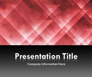 Light Triangles Red PowerPoint Template